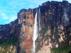 Salto Angel or angel Falls highest Water fall of the world in the Canaima national park Venezuela